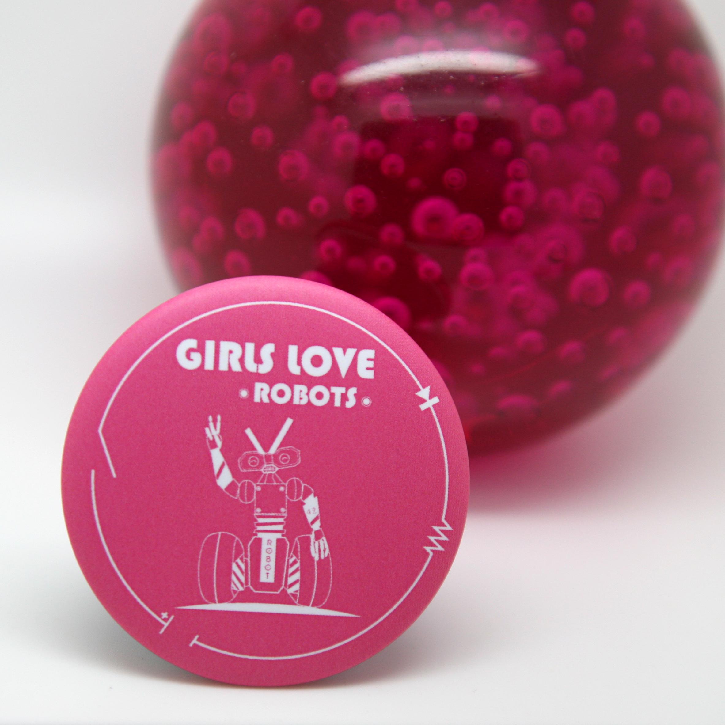 """magnet décaps """"girls love robots"""""""