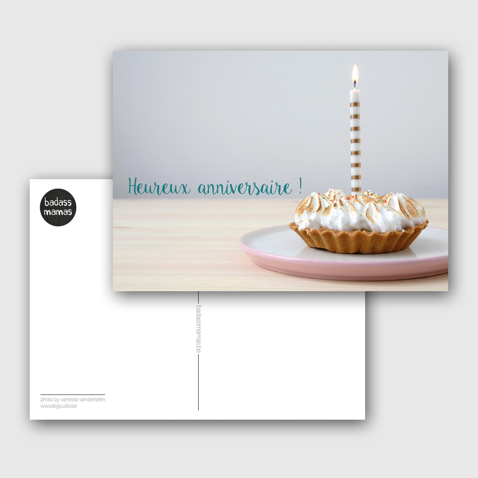 carte postale heureux anniversaire