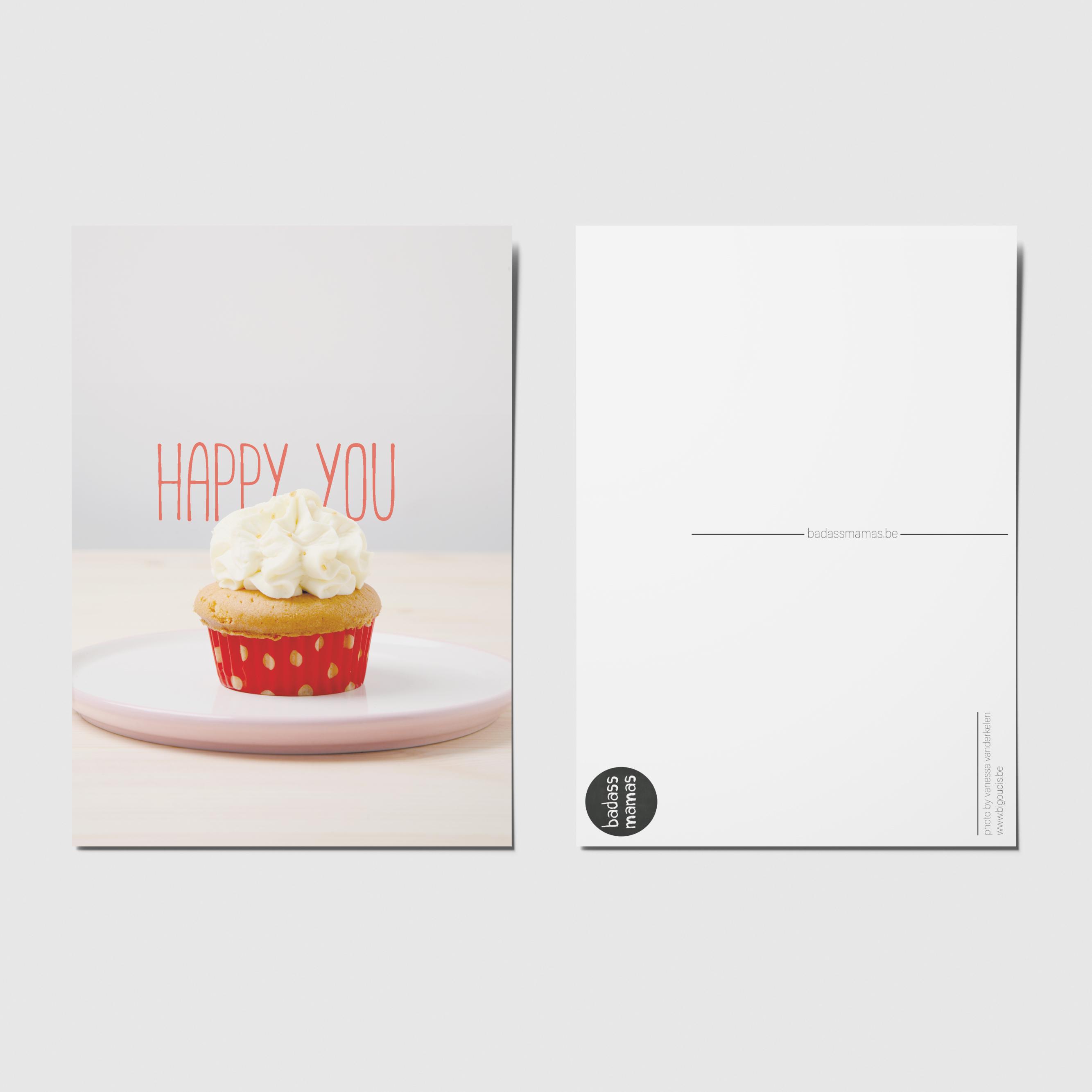 carte postale happy you cake