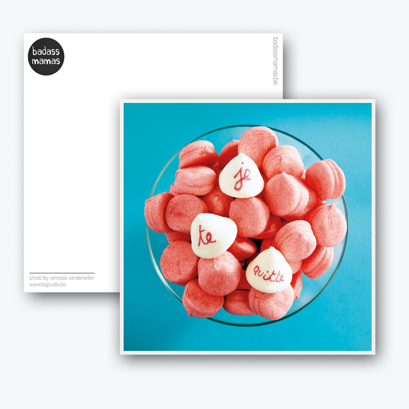 carte postale je te quitte #bonbons