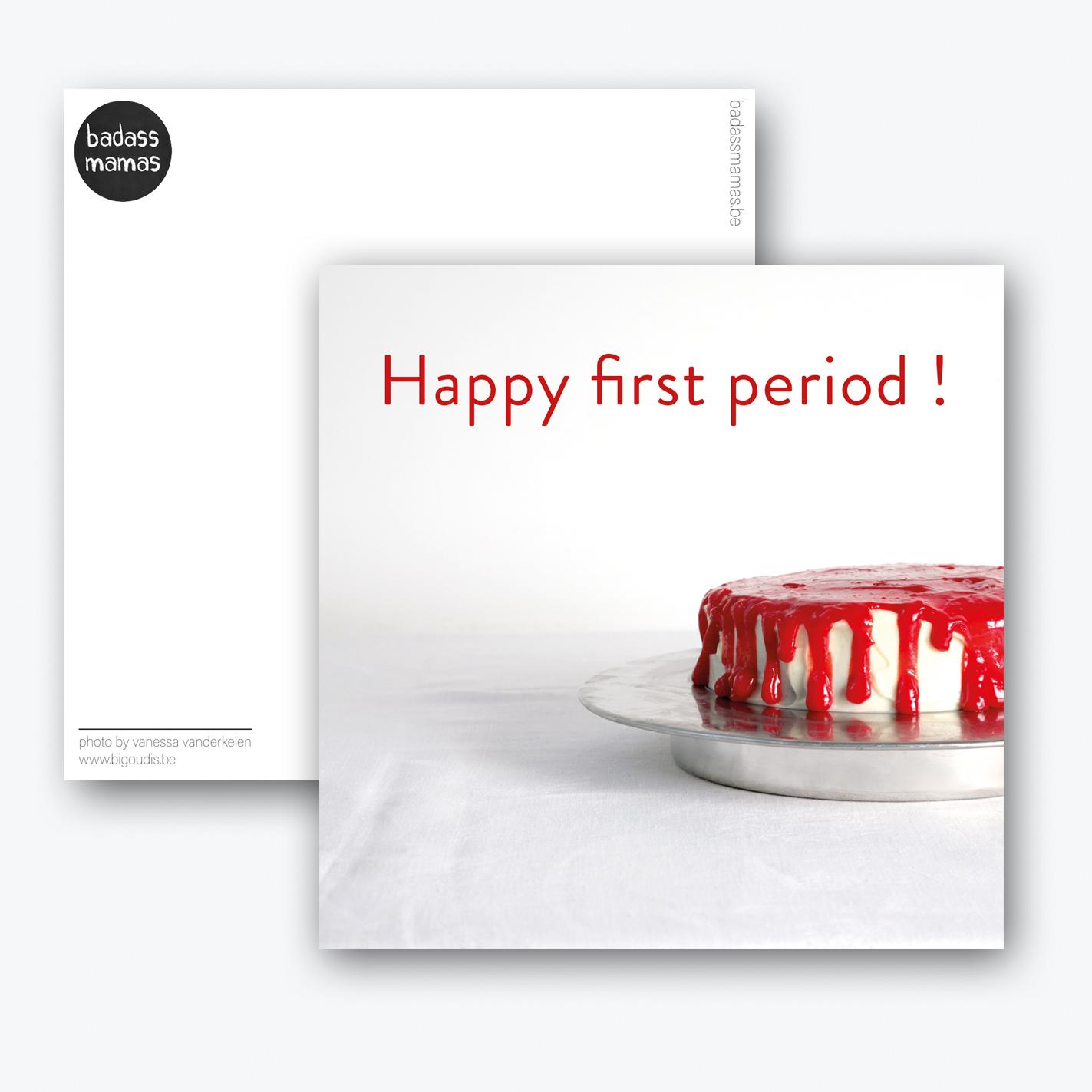 carte postale happy period #cake
