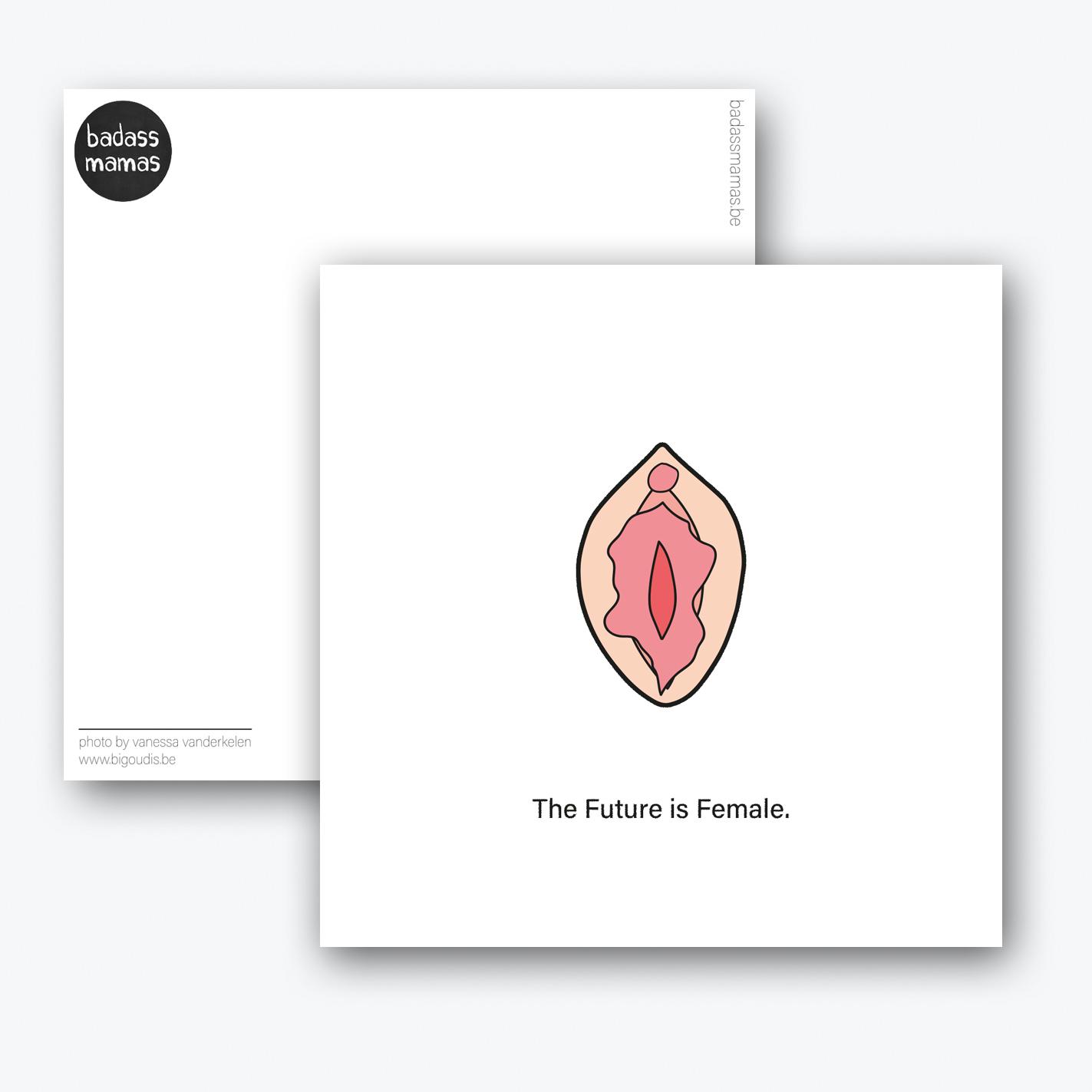 carte postale the future is female