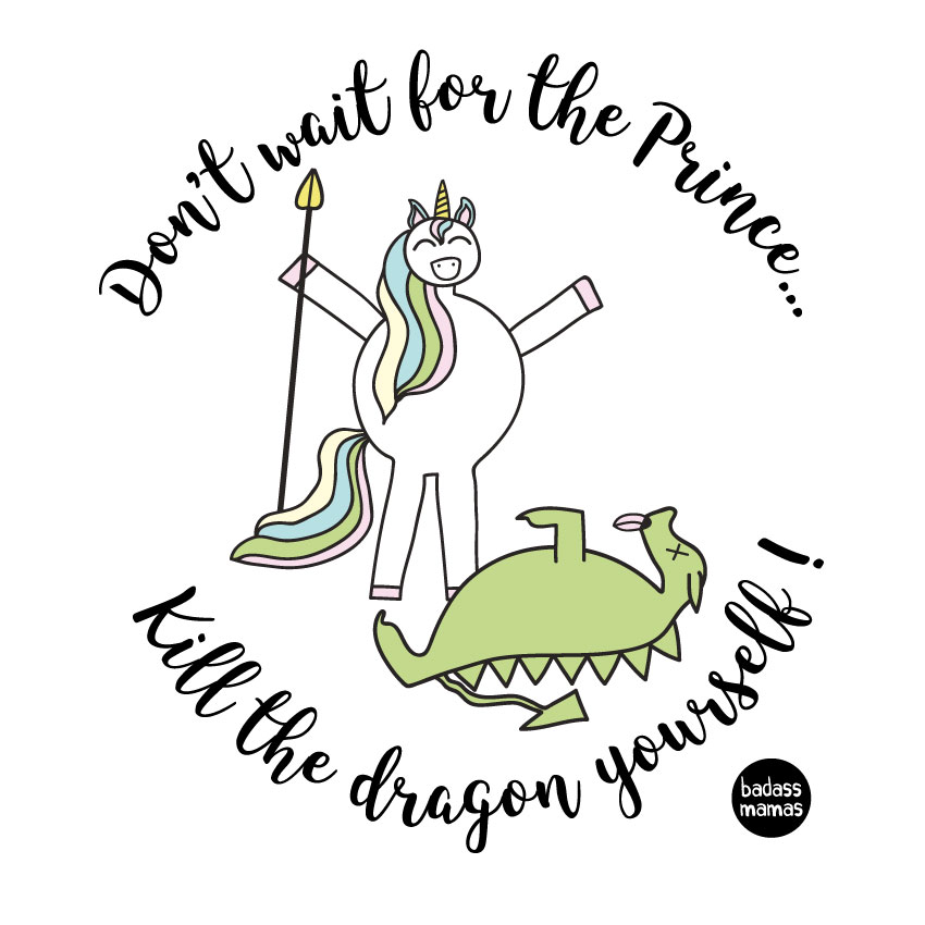 "tee shirt ""don't wait for the prince..."""